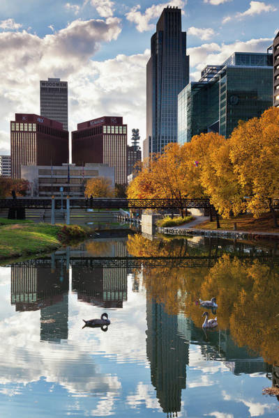 Wall Art - Photograph - Omaha, Nebraska, City View by Walter Bibikow