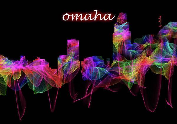 Photograph - Omaha Skyline Art With Script by Debra and Dave Vanderlaan