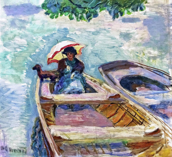 Wall Art - Painting - On A Boat - Digital Remastered Edition by Pierre Bonnard