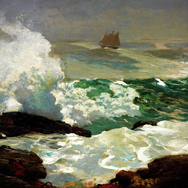 Wall Art - Painting - On A Lee Shore - Digital Remastered Edition by Winslow Homer