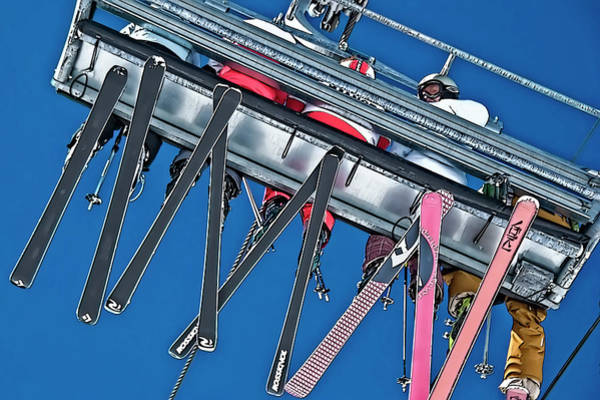 Ropeway Photograph - On A Lift by Maria Coulson