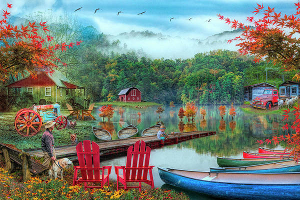 Photograph - On A Peaceful Colorful Country Evening by Debra and Dave Vanderlaan