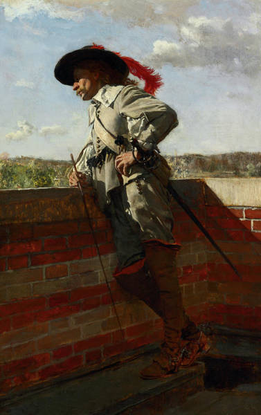 Wall Art - Painting - On A Terrace, 1867 by Ernest Meissonier