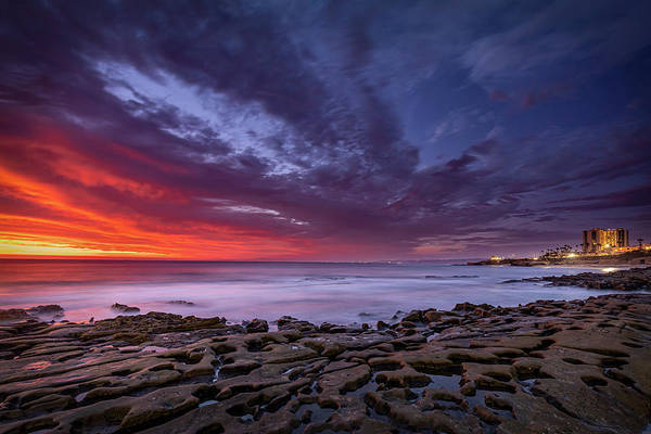 Wall Art - Photograph - On Fire - La Jolla by Peter Tellone