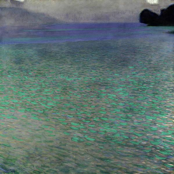 Gloomy Painting - On Lake Attersee, 1900 by Gustav Klimt