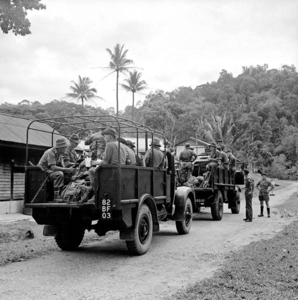 Car Accident Painting - On Patrol  Malaya  Ca 1955 by Celestial Images