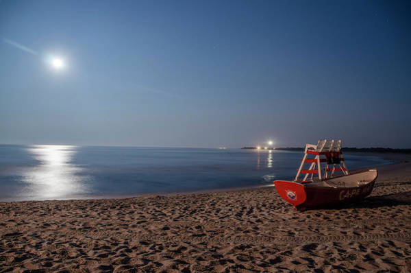 Photograph - On The Beach At Night In Cape May by Bill Cannon