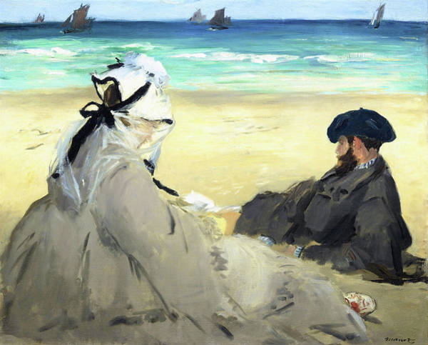Wall Art - Painting - On The Beach - Digital Remastered Edition by Edouard Manet