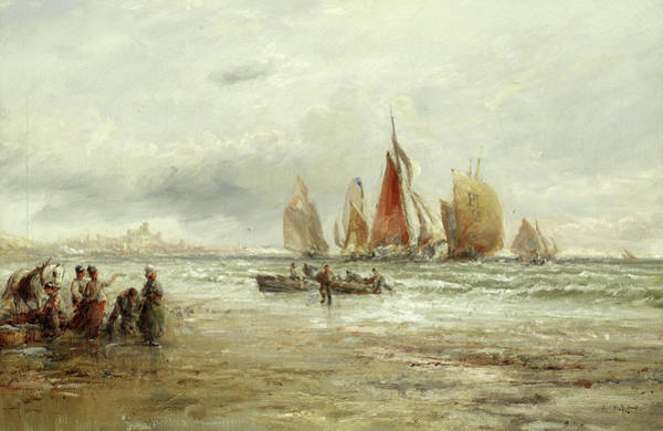 Wall Art - Painting - On The Beach, Peel by William Edward Webb