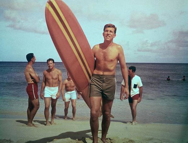 Photograph - On The Beach by Tom Kelley Archive