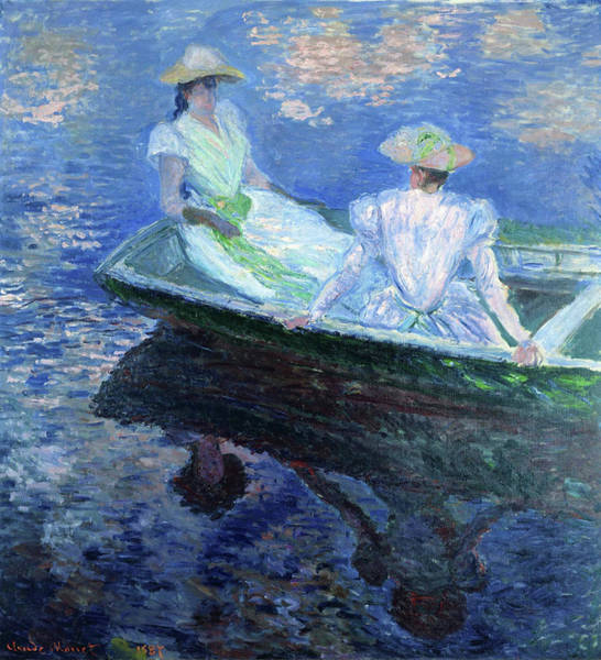 Wall Art - Painting - On The Boat - Digital Remastered Edition by Claude Monet