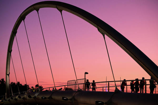 Wall Art - Photograph - On The Bridge by Miguel Vasquez