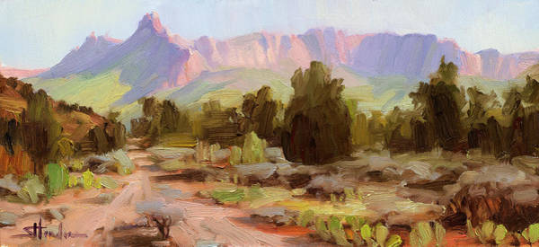Zion Painting - On The Chinle Trail by Steve Henderson