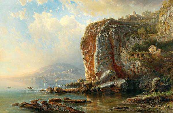 Wall Art - Painting - On The Coast Of Menton by Pieter Franciscus Peters