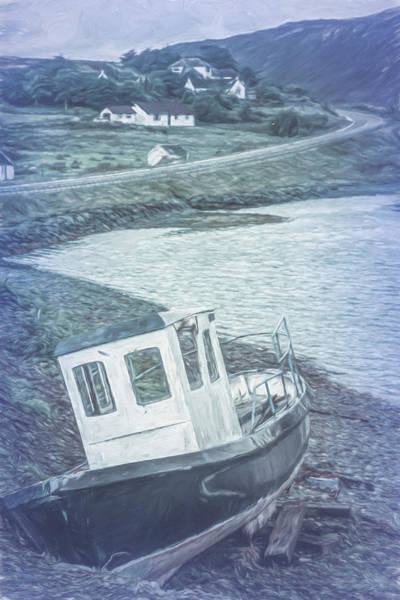 Photograph - On The Cool Scottish Shoreline Painting by Debra and Dave Vanderlaan