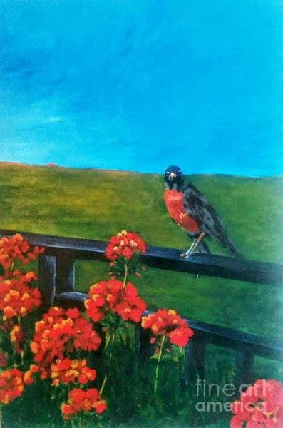 Painting - On The Fence by Lorraine Germaine