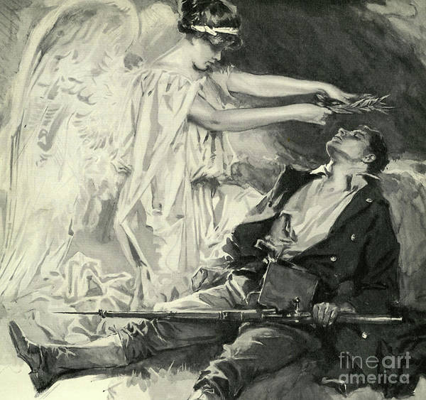 20th Century Man Drawing - On The Field Of Honor by Howard Chandler Christy