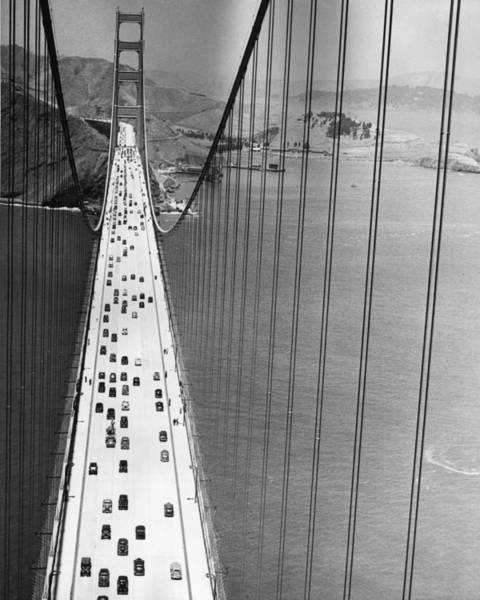 Vertical Perspective Photograph - On The Golden Gate by Archive Photos