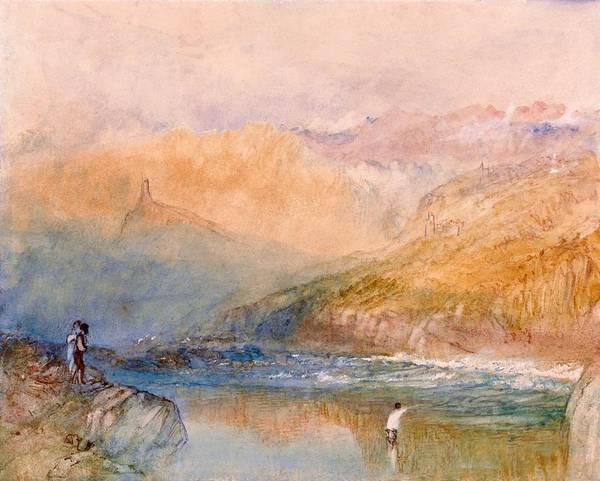 Wall Art - Painting - On The Mosell, Near Traben Trarbach - Digital Remastered Edition by William Turner