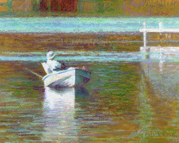 Painting - On The Pond Print by Betsy Derrick