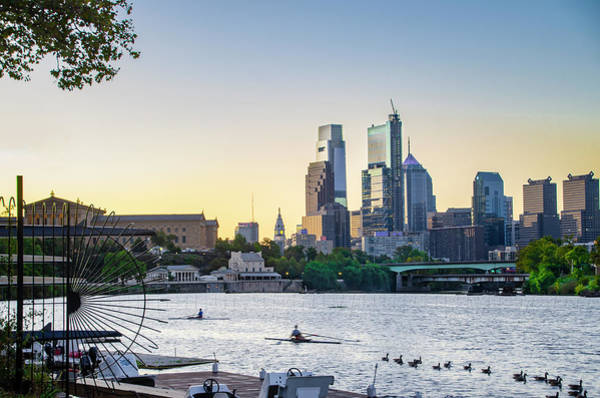 Photograph - On The River - Philadelphia Cityscape by Bill Cannon