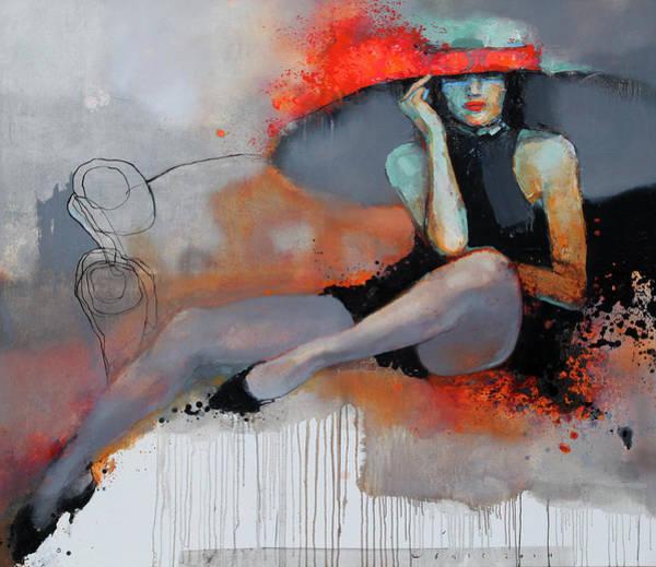 Wall Art - Painting - On The Sofa by Viktor Sheleg