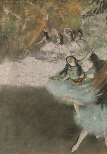 Wall Art - Pastel - On The Stage, 1876-1877 by Edgar Degas