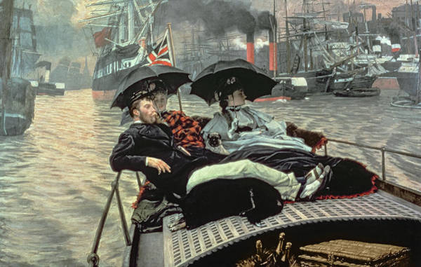 Wall Art - Painting - On The Thames, 1876 by James Tissot