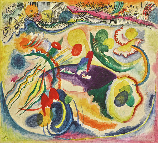 Wall Art - Painting - On The Theme Of The Last Judgment - Zum Thema Jungstes Gericht by Wassily Kandinsky