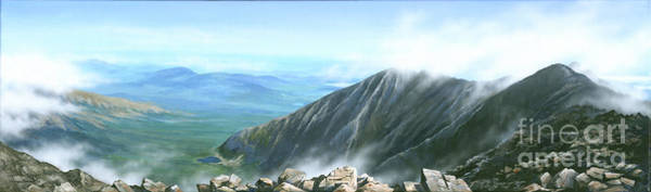 Wall Art - Painting - On The Top Of Katahdin by Varvara Harmon
