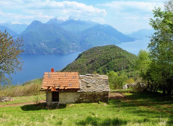 Photograph - On The Trail To Rifugio Menaggio Lake Como Italy II by Joan Carroll