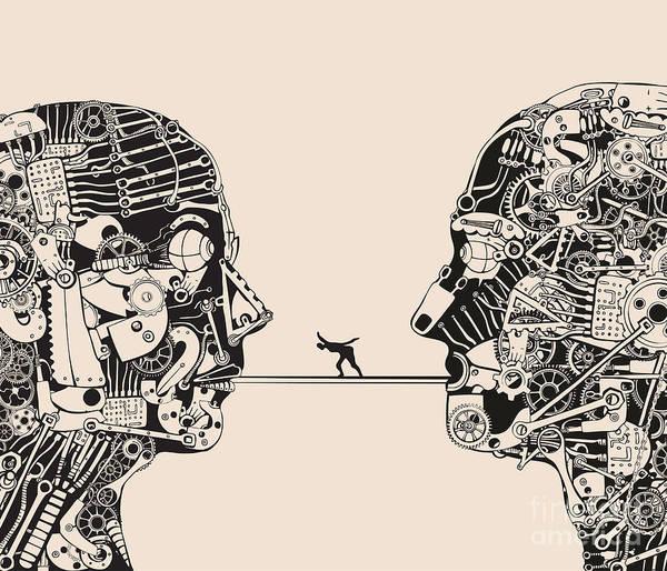 Communication Wall Art - Digital Art - On The Verge Of Understanding by Ryger