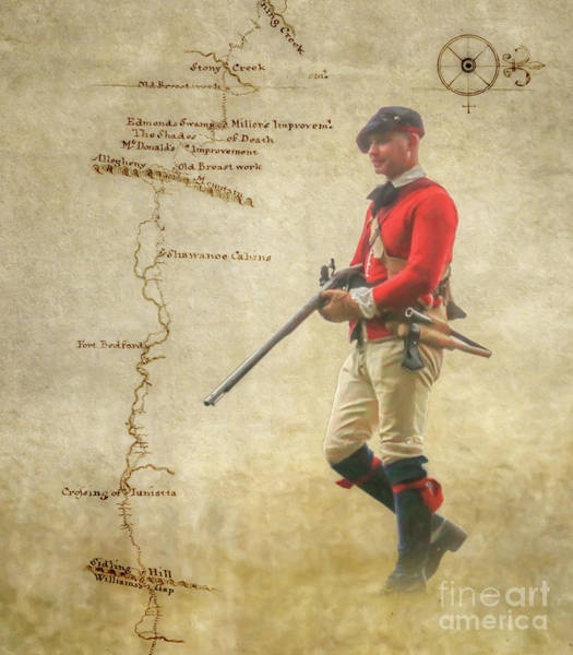 Wall Art - Digital Art - On The Way To Fort Pitt by Randy Steele