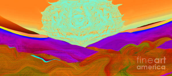 Organic Abstraction Mixed Media - On The Wings Of The Sun Full Throttle by Zsanan Studio