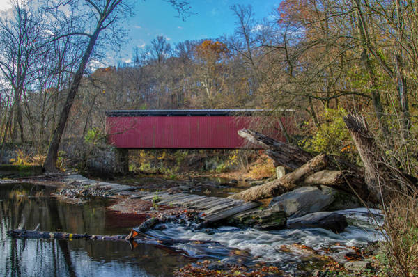 Wall Art - Photograph - On The Wissahickon Creek - Thomas Mill Coverd Bridge by Bill Cannon
