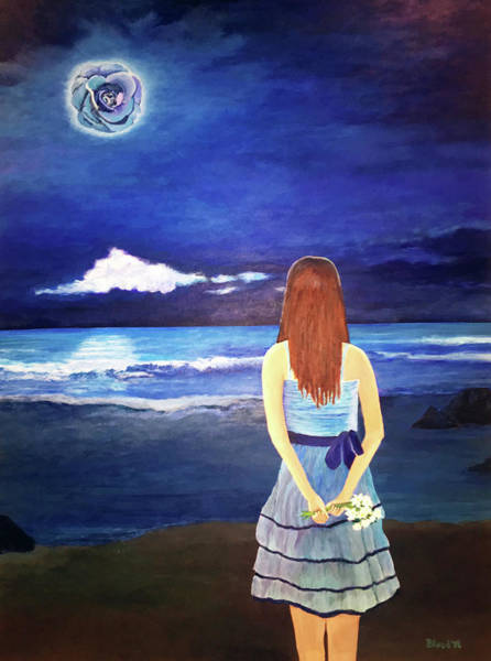 Painting - Once In A Blue Moon by Thomas Blood