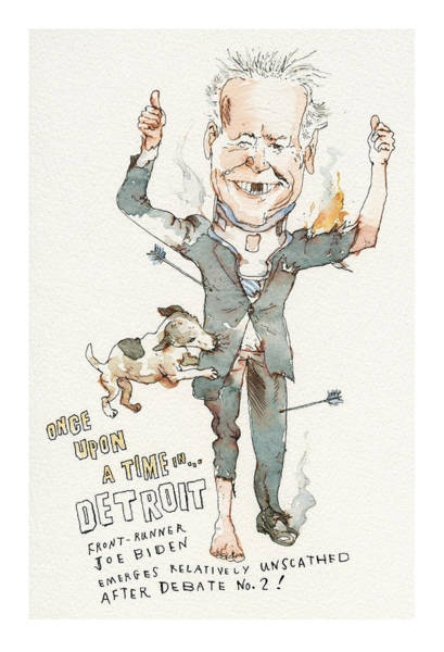 Painting - Once Upon A Time . . . In Detroit by Barry Blitt