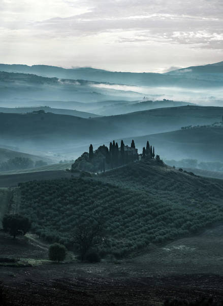 Photograph - One Cold Day In Tuscany by Jaroslaw Blaminsky
