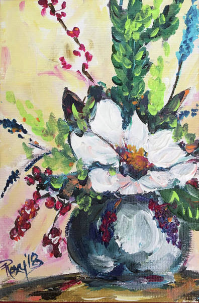 Flower Painting - Bloom by Roxy Rich