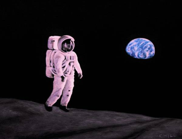 Wall Art - Painting - One Giant Leap by Charles Hill