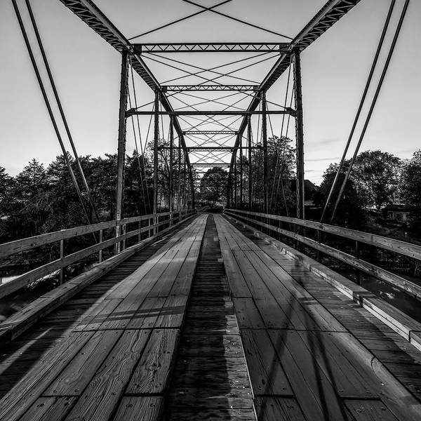Photograph - One Lane Bridge At War Eagle Mill - Monochrome by Gregory Ballos