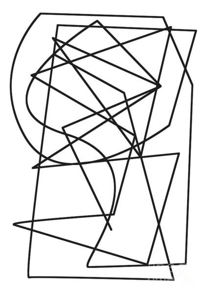 Wall Art - Drawing - One Line, Pulse by Alex Caminker