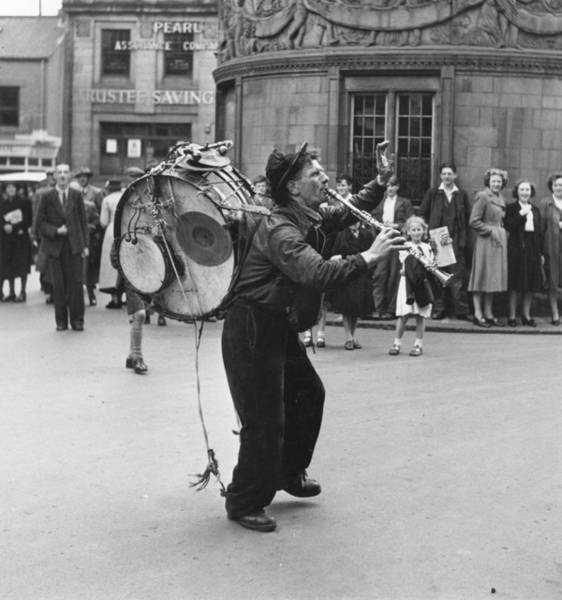Photograph - One-man Band by Bert Hardy