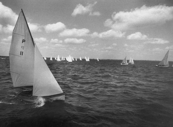Biscayne Wall Art - Photograph - One Of A Kind Regatta By The Coral Reef by Eliot Elisofon