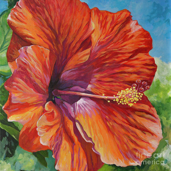 Wall Art - Painting - One Of The Favourite Flowers Of Tropical Islands - The Hibiscus. by John Clark