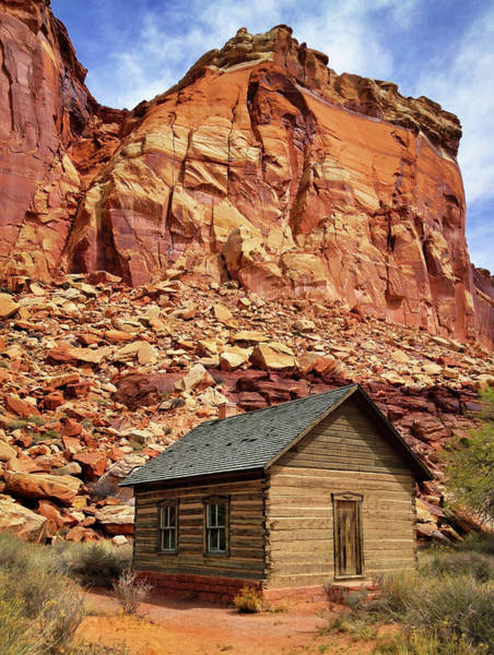 Schoolhouse Photograph - One Room Log School House, Fruita by Royce Bair