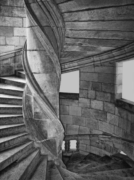 Wall Art - Photograph - One Side - Staircase At Chambord Castle by Nikolyn McDonald