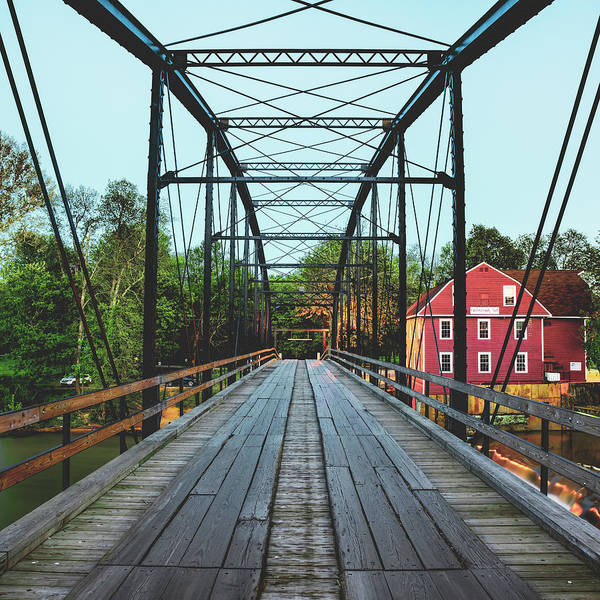 Photograph - One Way Bridge To The War Eagle Mill by Gregory Ballos