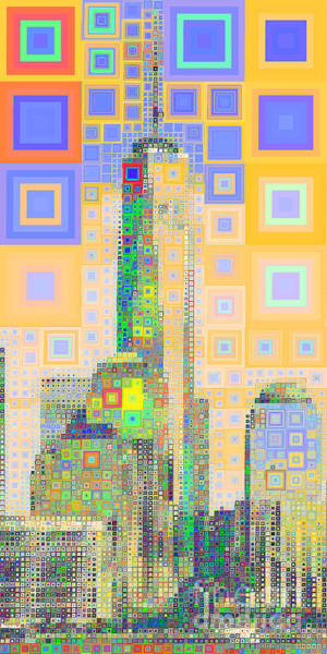 Photograph - One World Trade Center Lower Manhatten New York Skyline In Abstract Squares 20190205long by Wingsdomain Art and Photography
