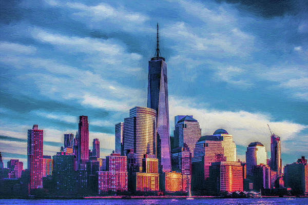 Painting - One World Trade Center, New York, United States by Dean Wittle